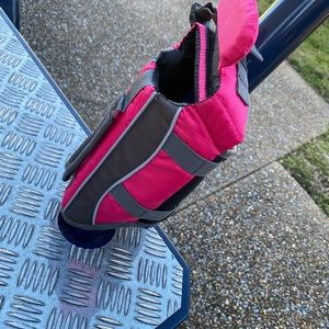 Small pink doggie life jacket